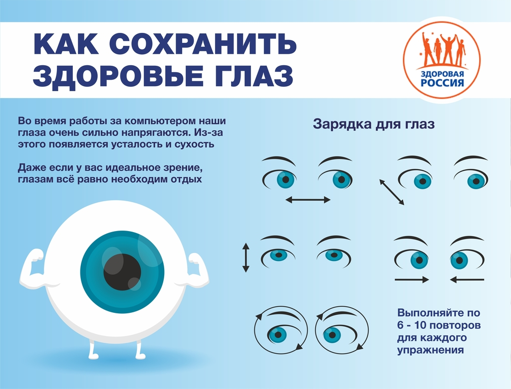 Сохранение здоровья глаз