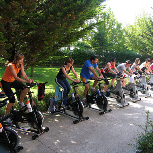 Тренировки на тренажерах: велотренажер