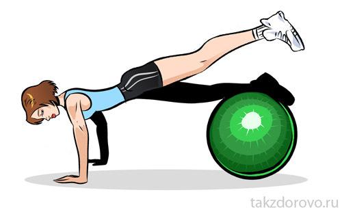 » Новые упражнения на фитболе: тренируем все группы мышц
