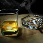 Курильщики расстаются салкоголем труднее