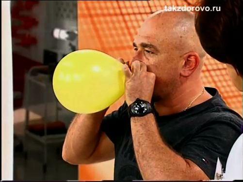 тест с воздушным шариком для Сергея Трофимова